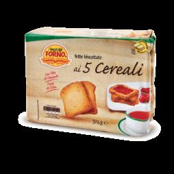 Fette Biscottate Ai 5 Cereali Tesori Del Forno 324g