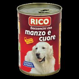 Bocconcini Cane Con Manzo E Cuore Rico 1250gr