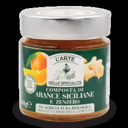Composta di arance siciliane e zenzero  L'Arte Delle Specialità  260g