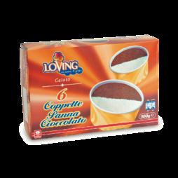 6 Coppette Panna E Cioccolato Loving 300g