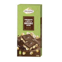 Cioccolato al latte con nocciole 200 G