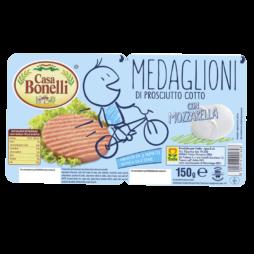 Medaglioni Di Prosciutto Cotto - Classico - Con Mozzarella 2x75g